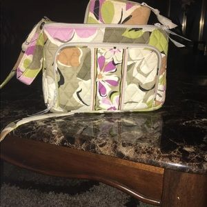 Vera Bradley crossbody and matching wallet